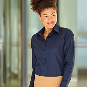 Fruit of the Loom Ladyfit Oxford long sleeve shirt
