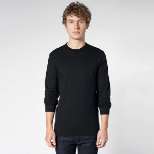 American Apparel Unisex fine jersey long sleeve t-shirt 2007 Embroidery, Print, Transfer