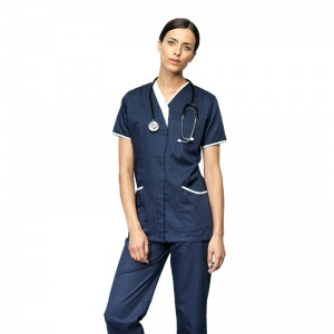 Premier Daisy healthcare tunic with Embroidery, Print, Transfer.