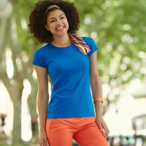 Fruit of the Loom Lady-fit Sofspun® T Embroidery, Print, Transfer