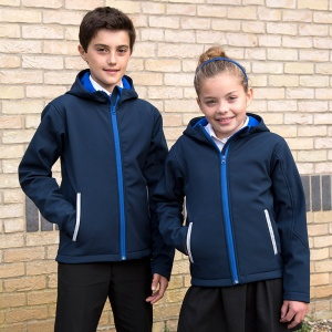Schools Result Core junior TX performance hooded softshell jacket