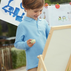 Schools Fruit of the Loom Kids long sleeve 65/35 polo
