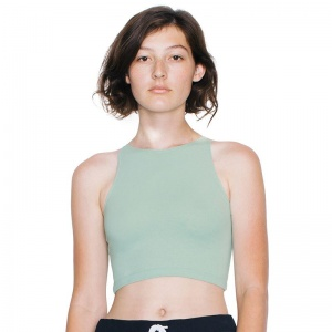 American Apparel Cotton Spandex sleeveless crop top 8369 Embroidery, Print, Transfer