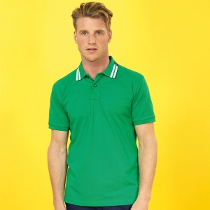 Asquith & Fox Two colour tipped polo, Embroidery, Print, Transfers