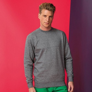 Asquith & Fox Men's twisted yarn sweatshirt, Embroidery, Print, Transfers