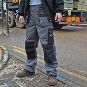Result Work-Guard x-over holster trousers, Embroidery, Print, Transfers