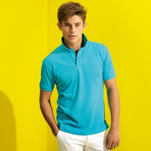 Asquith & Fox Men's super smooth knit polo, Embroidery, Print, Transfers
