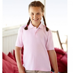 Schools Fruit of the Loom Kid's 65/35 pique polo