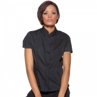 Bargear Bar blouse mandarin collar short sleeve