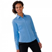 Russell Women's L/S Poly/Cotton Easycare Fitted Poplin Shirt