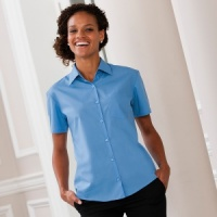 Russell Women's short sleeve poplin shirt