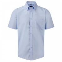 Russell Short sleeve 100% cotton poplin shirt