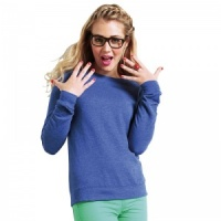 AWDis Girlie heather sweatshirt with Embroidery, Print, Transfer.