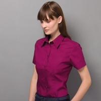 Kustom Kit Corporate pocket oxford blouse short sleeved ladies