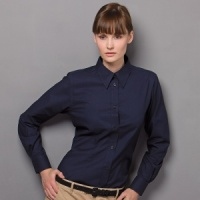 Kustom Kit Workplace Oxford blouse long sleeved
