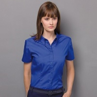 Kustom Kit Corporate Oxford blouse short sleeve womens