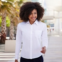 Fruit of the Loom Ladyfit poplin long sleeve shirt
