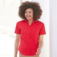 Fruit of the Loom Ladyfit poplin short sleeve shirt