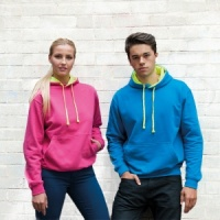 AWDis Superbright hoodie with Embroidery, Print, Transfer.