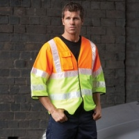 Yoko Hi vis premier two tone recovery jerkin with Embroidery, Print, Transfer.