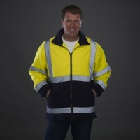 Yoko Hi vis heavyweight fleece jacket with Embroidery, Print, Transfer.