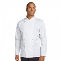 AFD By Dennys Chef's kit jacket with press stud Embroidery, Print, Transfer.