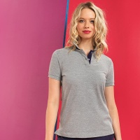 Asquith & Fox Women's contrast polo, Embroidery, Print, Transfers