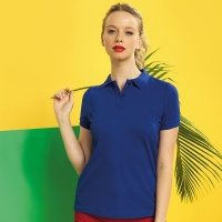 Asquith & Fox Women's classic fit performance blend polo, Embroidery, Print, Transfers