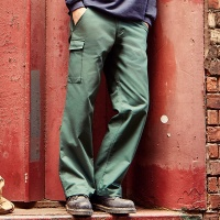 Russell Polycotton twill workwear trousers, Embroidery, Print, Transfers