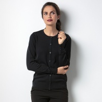 Kustom Kit Women's Arundel crew neck cardigan, Embroidery