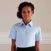 Russell Women's short sleeve Oxford shirt