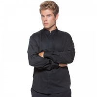 Bargear Bar Shirt Mandarin Collar Long Sleeve