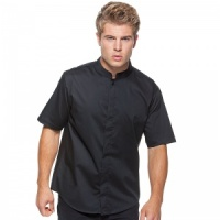 Bargear Bar shirt mandarin collar short sleeve