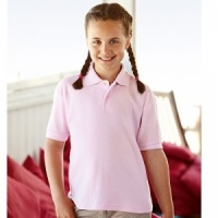 Fruit of the Loom Kid's 65/35 pique polo