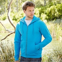 Fruit of the Loom Zip through hooded sweatshirt