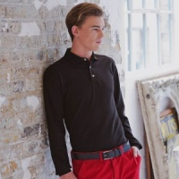 Henbury Long sleeve cotton polo